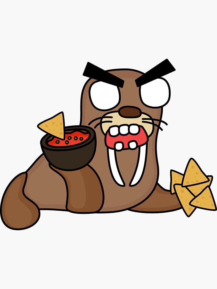 angry zombie nacho walrus by shortstack
