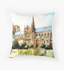 Remembering Notre Dame Paris France Throw Pillow