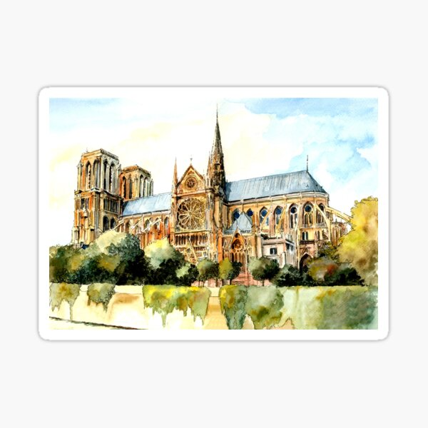 Remembering Notre Dame Paris France Sticker