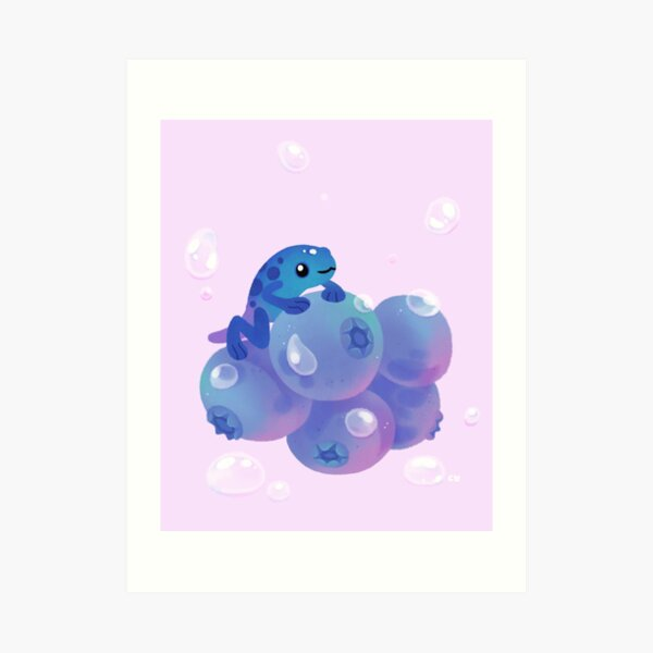 Blueberry poison yogurt 1 Art Print