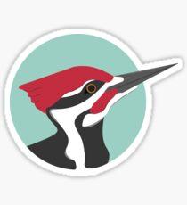 Minty Woodpecker Sticker