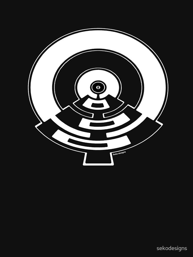 Mandala 23 Eight Ball Simply White  by sekodesigns
