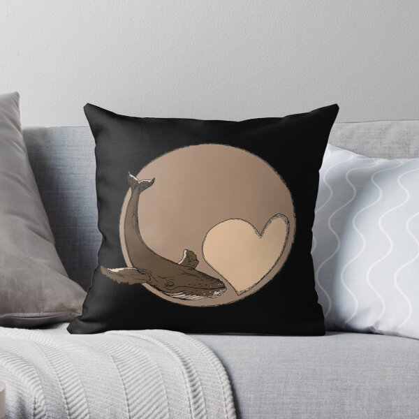 Pluto: Whale and Heart Throw Pillow