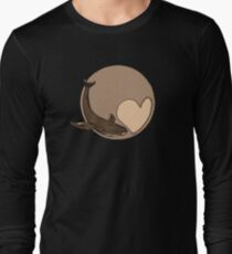 Pluto: Whale and Heart Long Sleeve T-Shirt