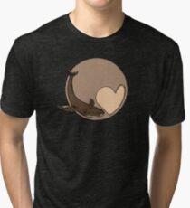 Pluto: Whale and Heart Tri-blend T-Shirt