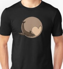 Pluto: Whale and Heart Unisex T-Shirt