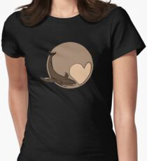 Pluto: Whale and Heart Fitted T-Shirt