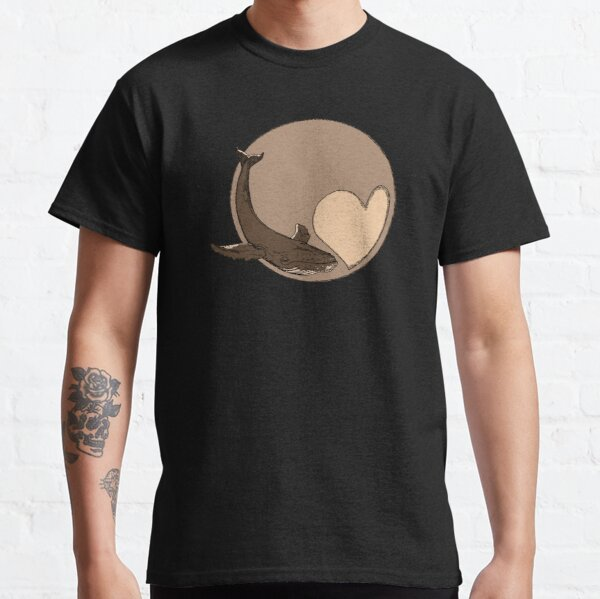 Pluto: Whale and Heart Classic T-Shirt