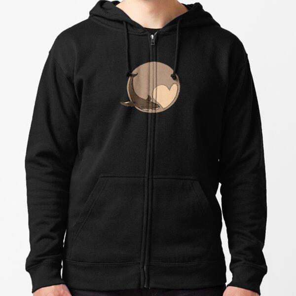 Pluto: Whale and Heart Zipped Hoodie