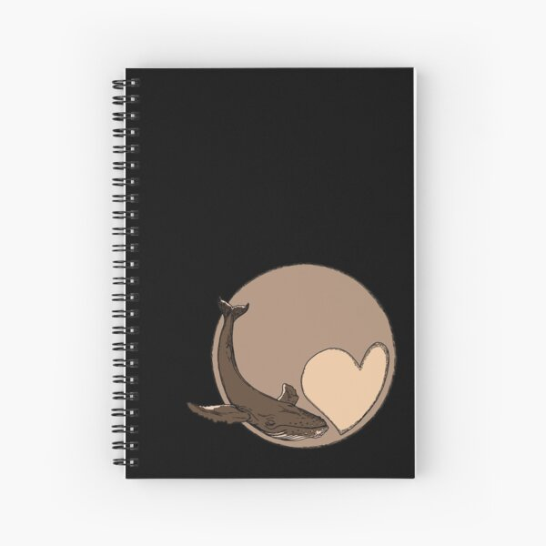 Pluto: Whale and Heart Spiral Notebook