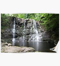 Glenariff Forest Waterfall - Wide angle Poster