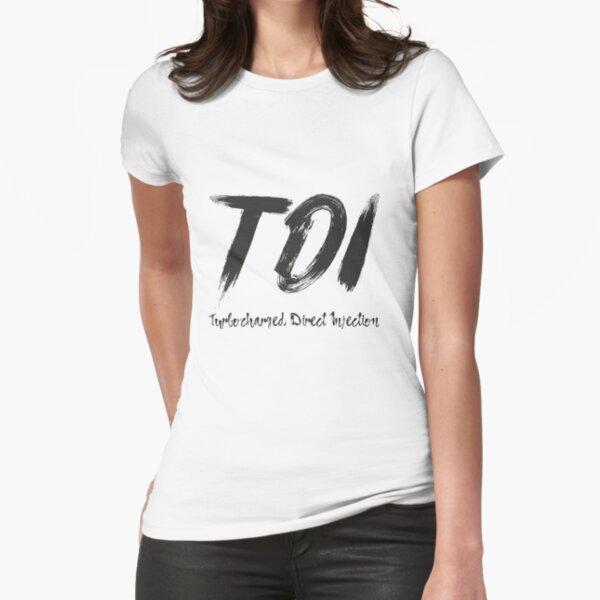 TDI Turbo Turbocharged Direct Injektion Shirt Geschenk Tailliertes T-Shirt