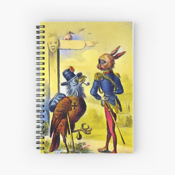 Eagle and Hare Meet on the Road Spiral Notebook