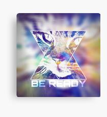 BE READY CAT (colored) Metal Print