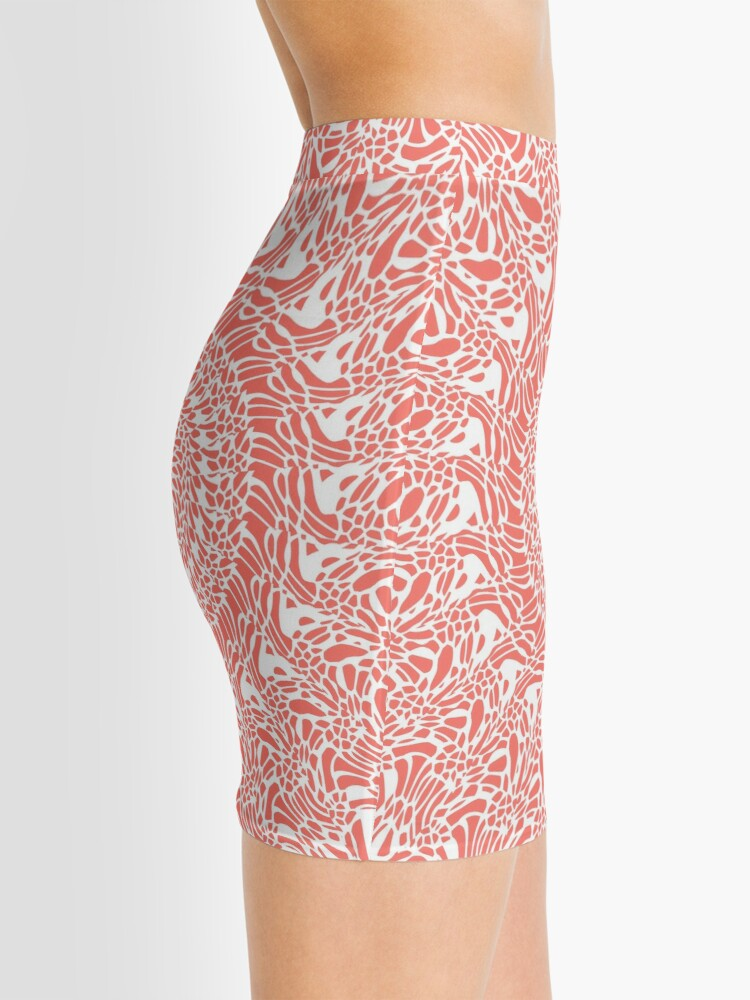 Alternate view of Coral and White Mandala Mini Skirt
