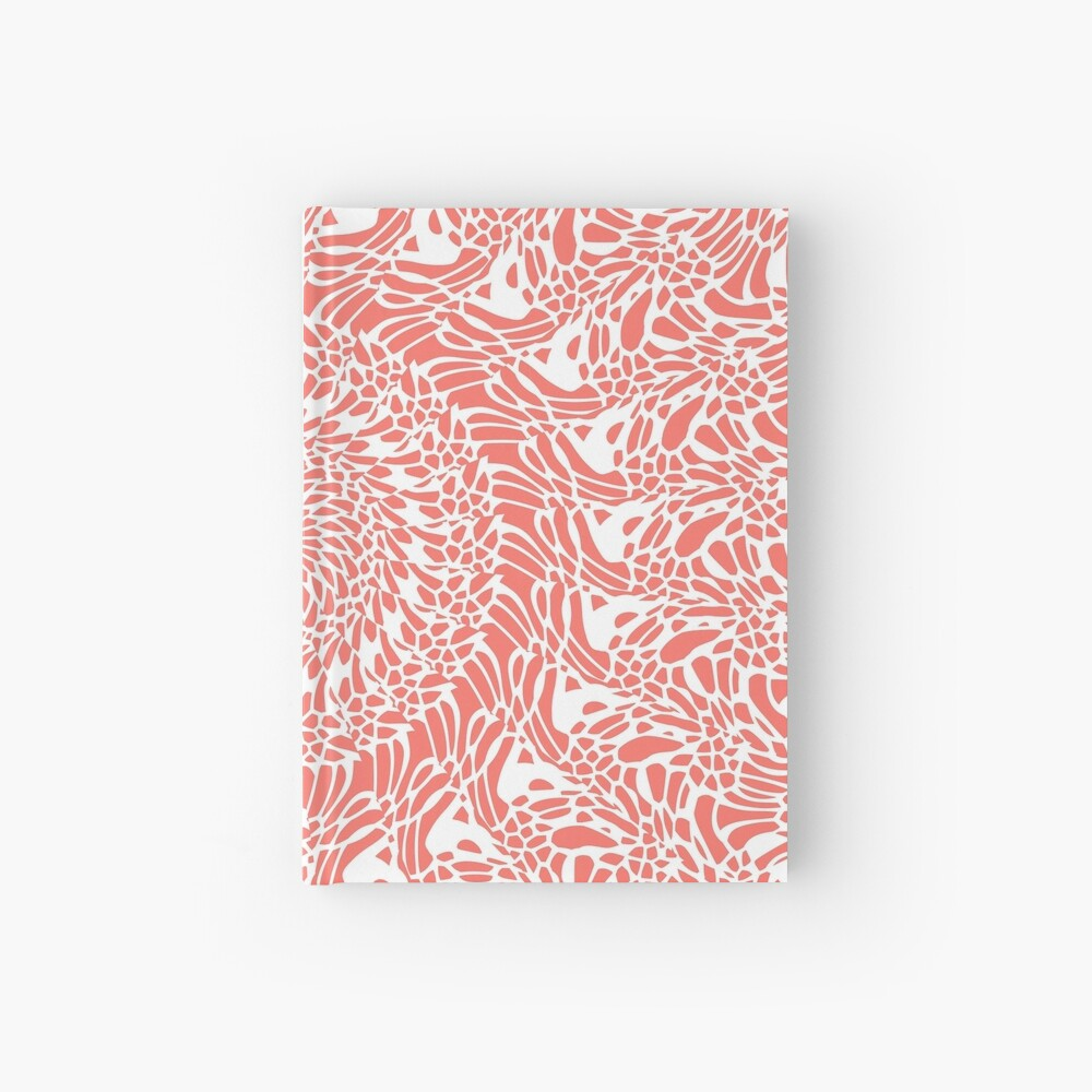 Coral and White Mandala Hardcover Journal