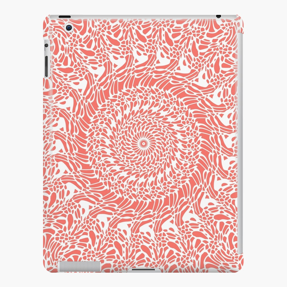 Coral and White Mandala iPad Case & Skin