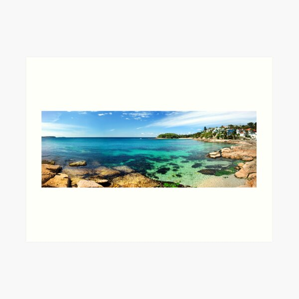 shelly beach, manly Art Print