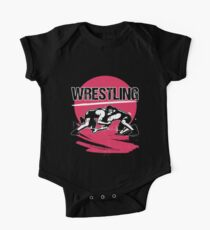 Wrestling Vintage Short Sleeve Baby One-Piece