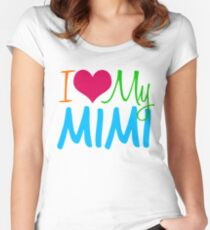 I Love My Mimi Women's Fitted Scoop T-Shirt