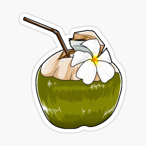 Coconut Sticker