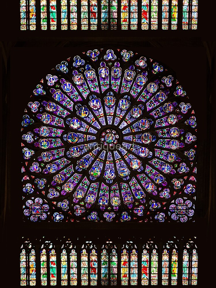 Notre Dame Cathedral Paris Rose Window by antiqueart