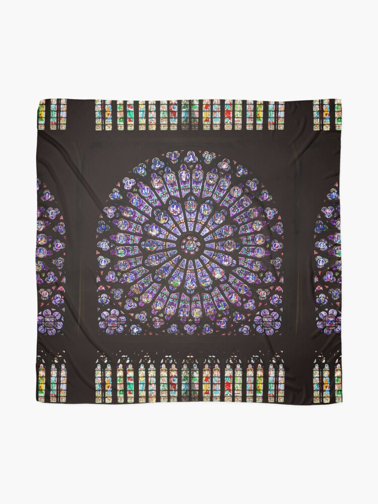 Alternate view of Notre Dame Cathedral Paris Rose Window Scarf