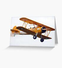 Stearman Biplane Greeting Card
