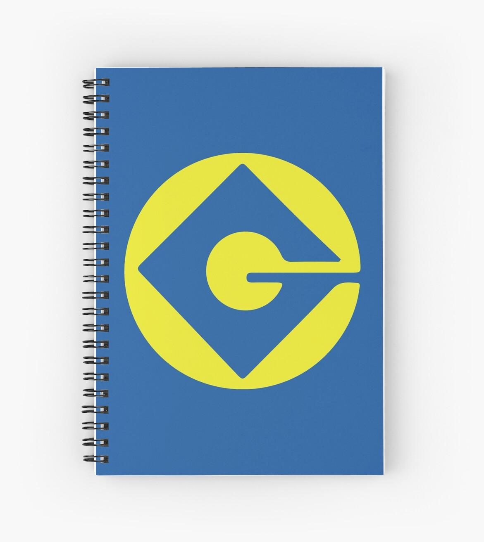 Minion Logo Gru Despicable Me Spiral Notebooks By Nemofish Redbubble