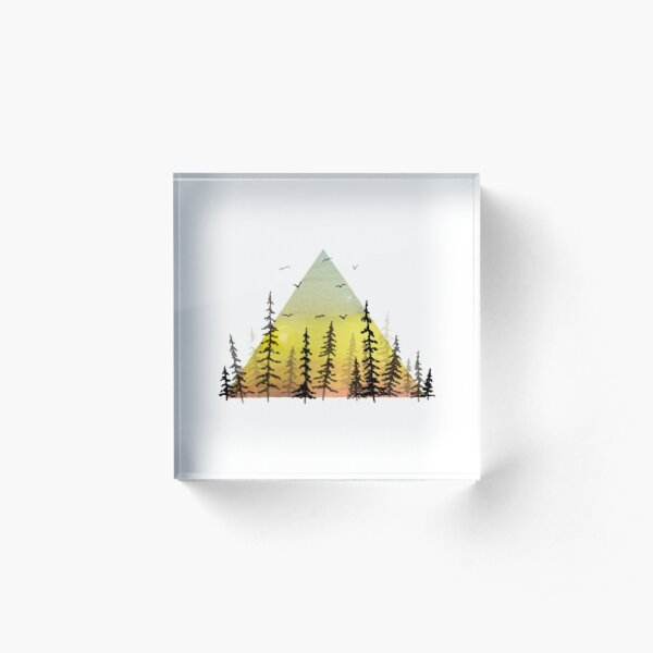 Forest for the Trees Acrylic Block
