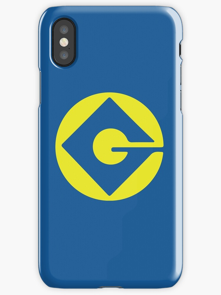 Minion Logo Gru Despicable Me Iphone Cases Covers By Nemofish