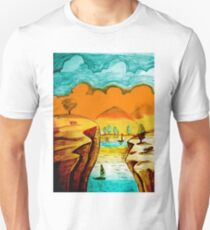 Hand Drawn Landscape Unisex T-Shirt