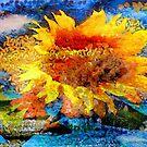 Textured orange  Sunflower by Alexandr Zadiraka
