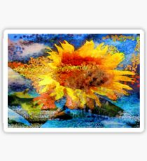 Textured orange  Sunflower Sticker