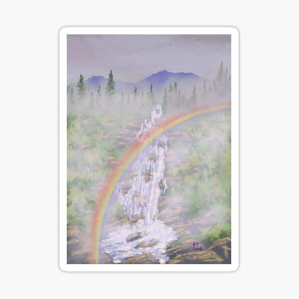 Rainbow Falls Sticker