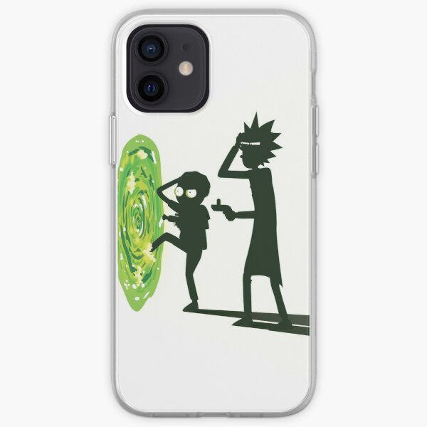 Rick and Morty - Portal Travel (White) iPhone Soft Case