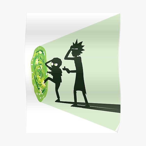 Rick and Morty - Portal Travel (White) Poster