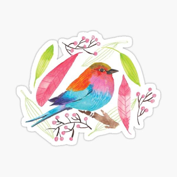 Cute colorful bird Sticker