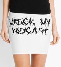 Wreck My White Death Metal Mini Skirt