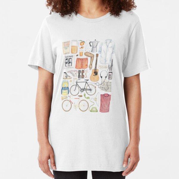 Call Me By Your Name Minimal Illustration Painting  Slim Fit T-Shirt
