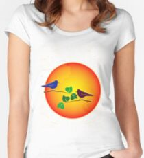 Sunrise Sunset Women's Fitted Scoop T-Shirt