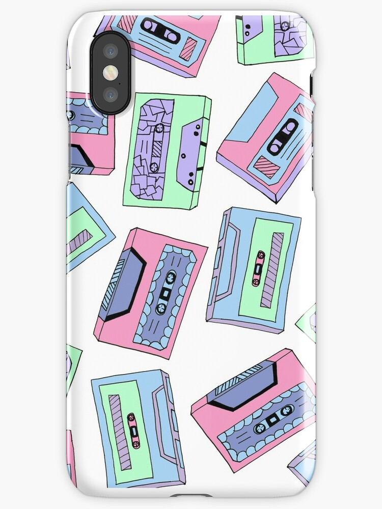 Colourful Vintage Cassette Tape Pattern  by ShanWherry