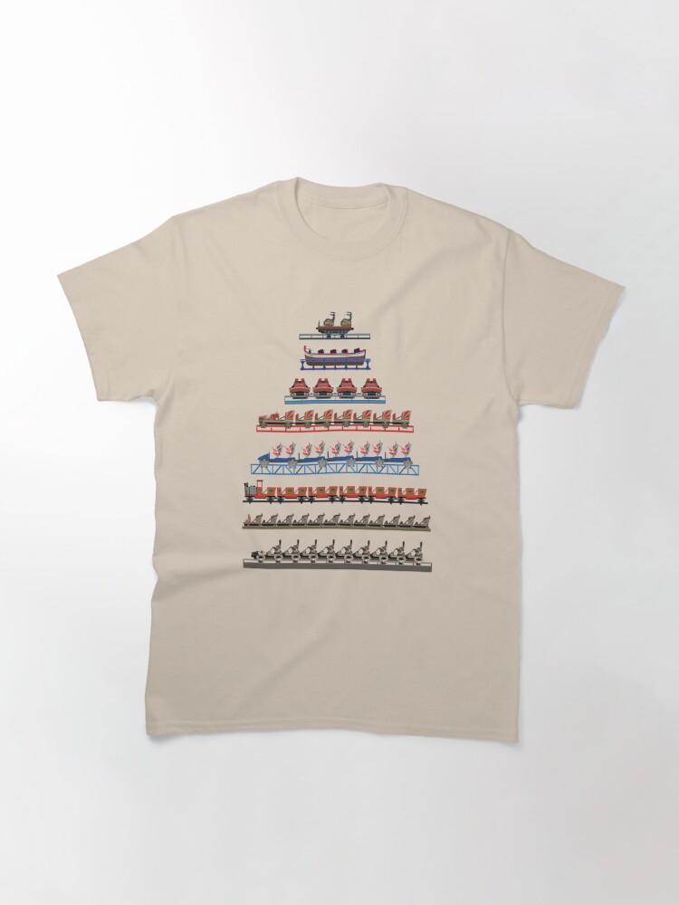 Alternate view of Europa Park Coaster Trains Design Classic T-Shirt