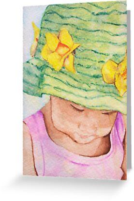 Girl in Big Hat by EmilyThomasArt