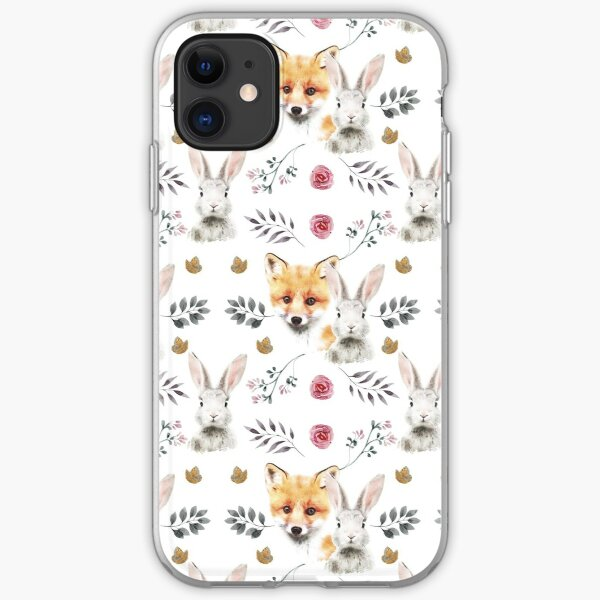 Bunny and Fox iPhone Soft Case
