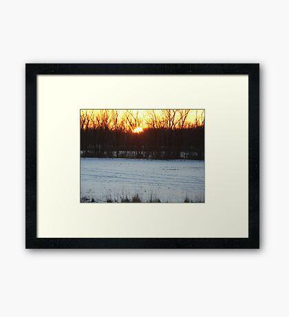 Beautiful sunset photo Framed Print