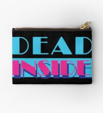 Dead Inside (Miami Vice) Zipper Pouch
