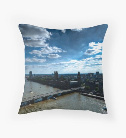 Sky over the Thames Throw Pillow