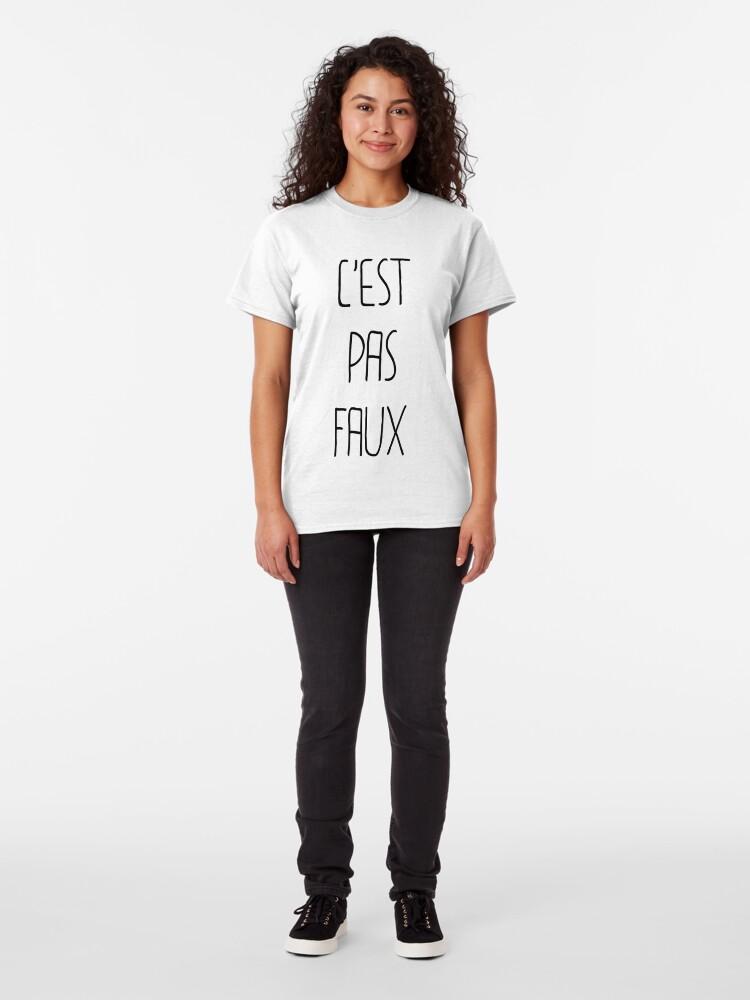 T-shirt classique ''C'EST PAS FAUX': autre vue