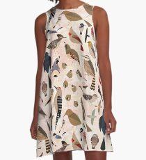 Sonoran Vögel A-Linien Kleid